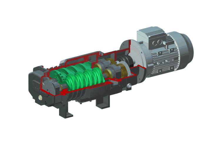 螺杆空压机原理图
